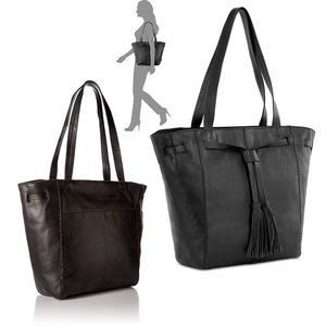 The Sak Huntley Tassel Tote LEATHER Black $199